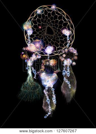 Dream Catcher Abstraction
