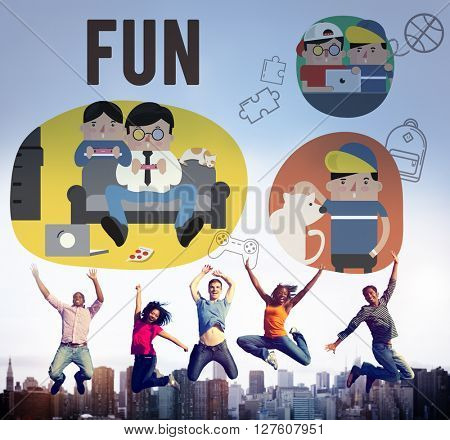 Fun Lifestyle Happiness Hobby Concept