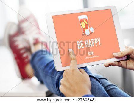 Be Happy Lifestyle Leisure Enjoy Concept