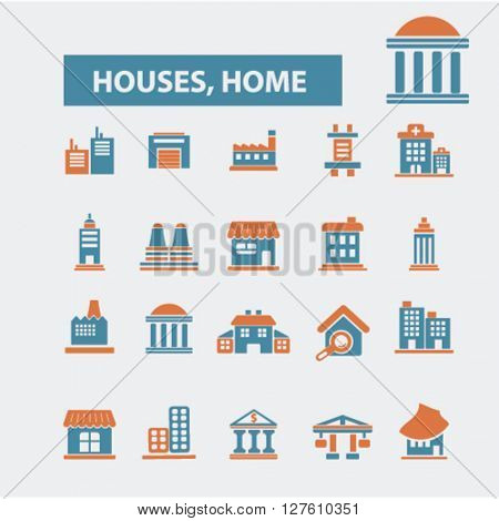 houses, home icons