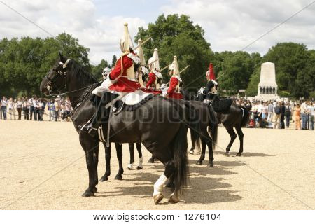 Royal Cavalry On Parade