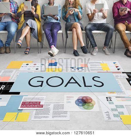 Goals Aspirations Inspiration Mission Target Concept