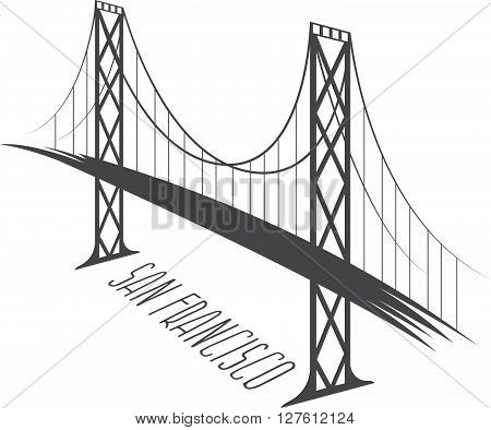 San Francisco- Oakland Bay Bridge vector illustration