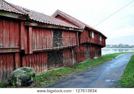 Traditional wooden building in Sweden, Scandinavia, Europe