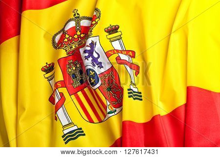 real fabric flag of spain