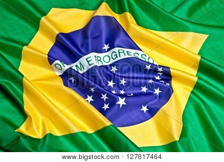 real fabric flag of brazil