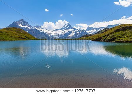 Stunning View Of Bachalpsee And The Alps