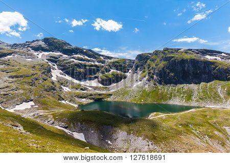 Stunning View Of Schwarzsee (lake) Near Pizol