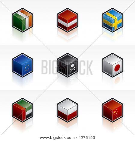 Flag Icons Set - Design Elements