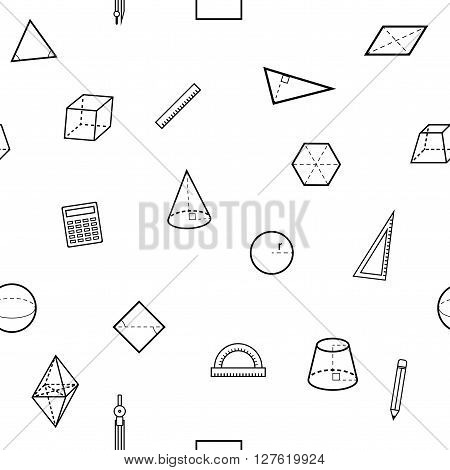 Seamless geometry science flat pattern. Vector illustration.