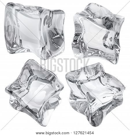 Gray Opaque Ice Cubes