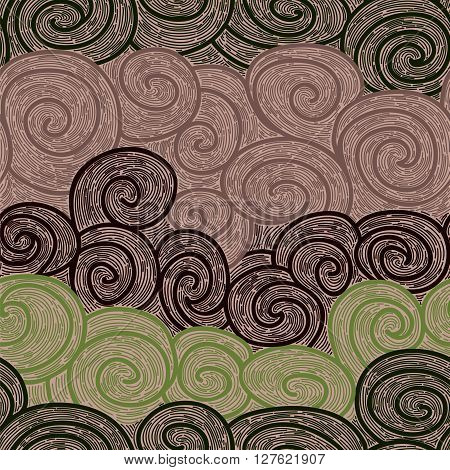 color whirl seamless pattern. imitating hand drawn