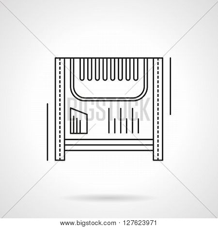 Household appliances and equipment. Home climate. Electric heater device. Flat line style vector icon. Single design element for website, business.
