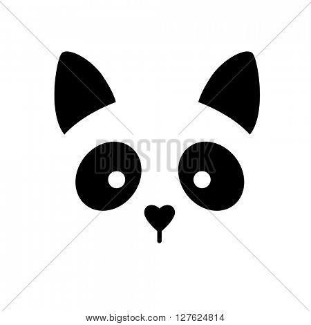 Cat animal sign. Cat illustration idea for logo, emblem, symbol, icon. Vector illustration.