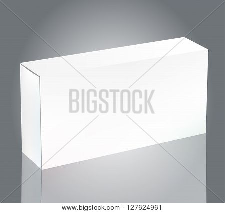 Vector Blank White Package Box for Blister of Pills Isolated on Background. Template Package Box Design for Branding.