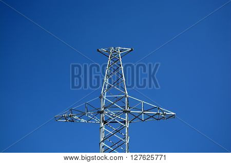High Voltage Girder in the Blue Sky.