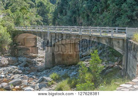 The old bridge over the Bloukrans River in the historic Bloukrans Pass