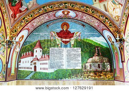 SAMBATA MONASTERY, 23 October 2015 - Orthodox painting of Sambata Monastery, Romania, Europe