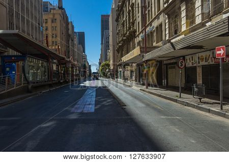 Johannesburg, South Africa 28 March 2016 The Johannesburg central business district in the older part of town