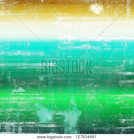 Vintage decorative background, antique grunge texture with different color patterns: yellow (beige); brown; green; blue; cyan; white