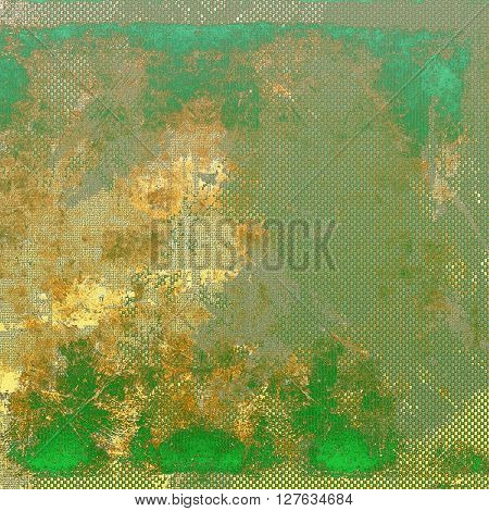 Vintage texture or antique background with grunge decorative elements and different color patterns: yellow (beige); brown; gray; green; blue