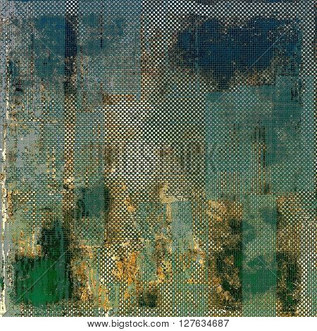 Creative elegant design used as retro background for your art project. With grunge texture and different color patterns: yellow (beige); brown; gray; green; blue; cyan