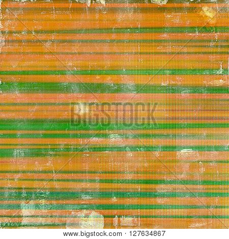Old-style dirty background with textured vintage elements and different color patterns: yellow (beige); brown; green; red (orange); pink; white