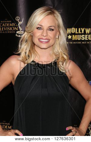LOS ANGELES - APR 27:  Jessica Collins at the 2016 Daytime EMMY Awards Nominees Reception at the Hollywood Museum on April 27, 2016 in Los Angeles, CA