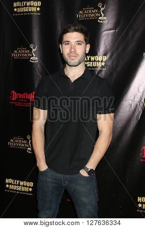 LOS ANGELES - APR 27:  Kristos Andrews at the 2016 Daytime EMMY Awards Nominees Reception at the Hollywood Museum on April 27, 2016 in Los Angeles, CA