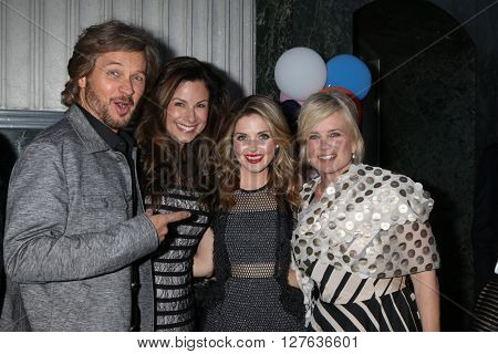 LOS ANGELES - APR 27:  Stephen Nichols, Marie Masters, Jen Lilley, Mary Beth Evans at the 2016 Daytime EMMY Awards Nominees Reception at the Hollywood Museum on April 27, 2016 in Los Angeles, CA