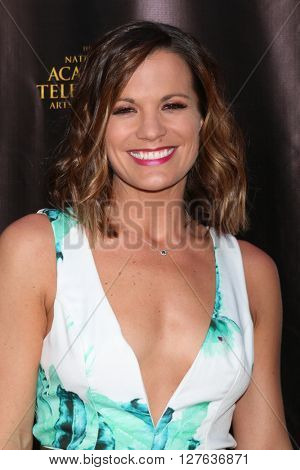 LOS ANGELES - APR 27:  Melissa Claire Egan at the 2016 Daytime EMMY Awards Nominees Reception at the Hollywood Museum on April 27, 2016 in Los Angeles, CA
