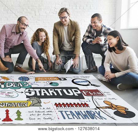 Start Up Strategy Creative Launch Opportunity Concept