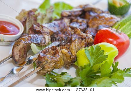 Delicious and nutritious kebab made with fresh lamb meat.