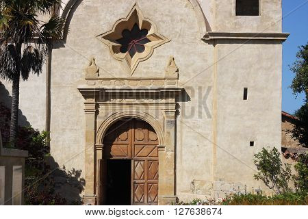 This is an image of the Carmel Mission taken in Carmel,