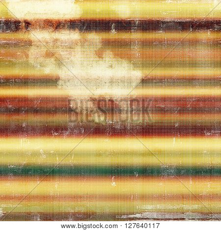 Colorful vintage background, grunge texture with scratches, stains and different color patterns: yellow (beige); brown; gray; green; red (orange); white