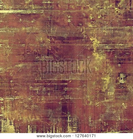 Retro vintage style elements on aged grunge texture. With different color patterns: yellow (beige); brown; gray; purple (violet); pink