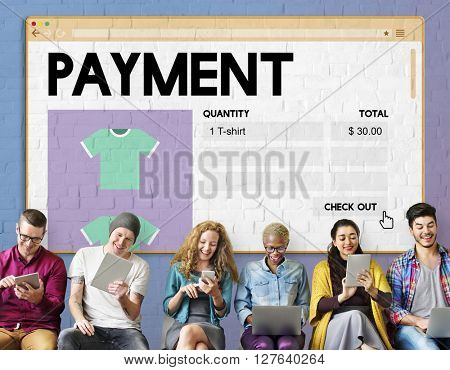 Payment Online Shopping Networking Internet Concept
