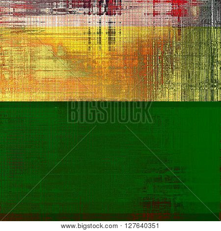 Abstract grunge background or aged texture. Old school backdrop with vintage feeling and different color patterns: yellow (beige); brown; red (orange); pink; black