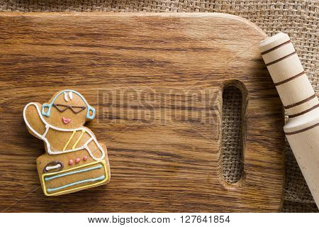 Cookies in the shape of man profession DJ