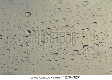 Rain drops on windshield car, Vintage Effect