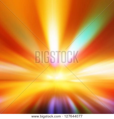Abstract image of colorful night lights with motion blur.