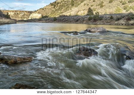 Rodeo Rapid on the upper Colorado River at Burns, Colorado, USA, looking upstream