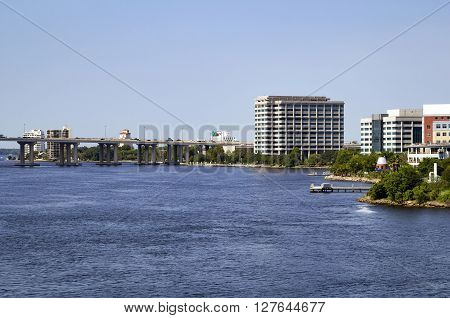Riverside as seen from downtown Jacksonville Florida