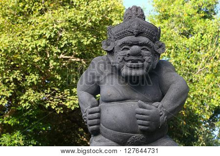Bali stone sculpture in the park -