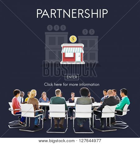 Partnership Launch Startup New Business Concept