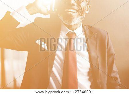 Businessman Communication Mobile Phone Connect Concept