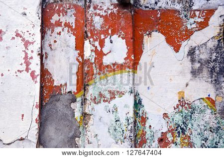 colorful old city house wall background India