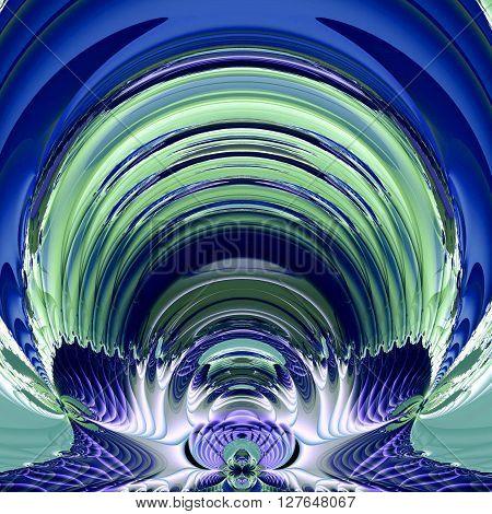 fractal illustration of cosmic background astronaut helmet