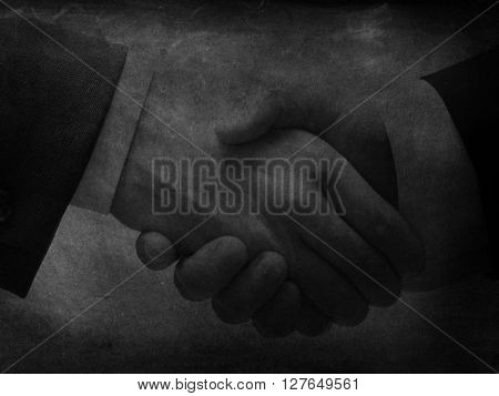 Handshake as a background