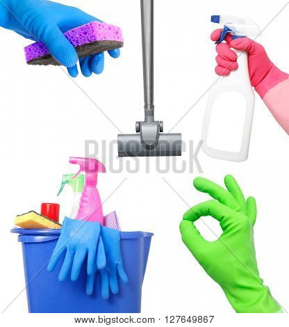 Cleaning on white